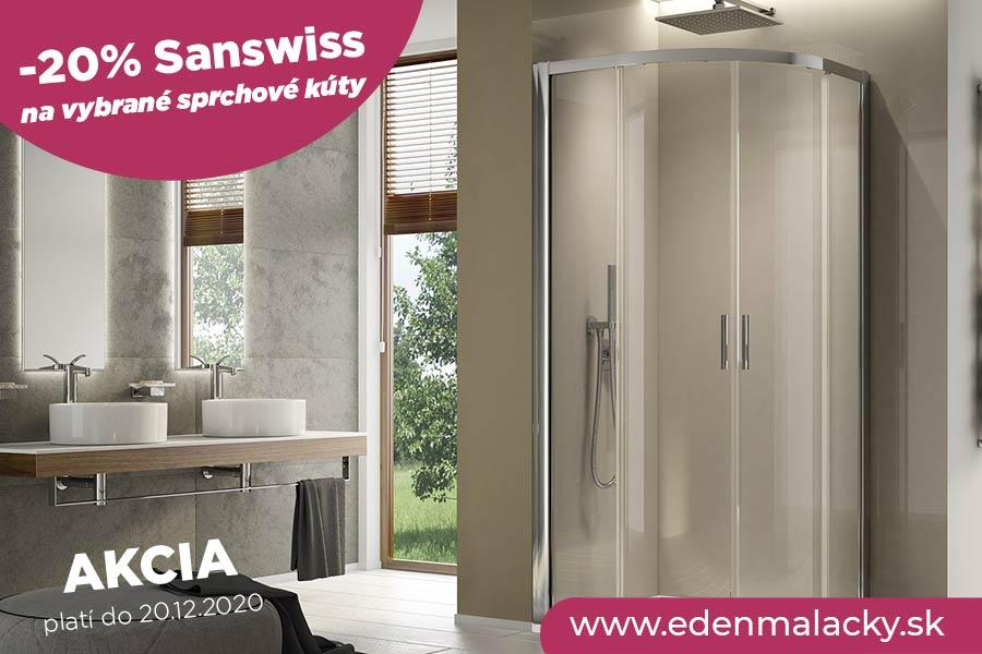 Akcia na 2 typy sprchových kútov SanSwiss