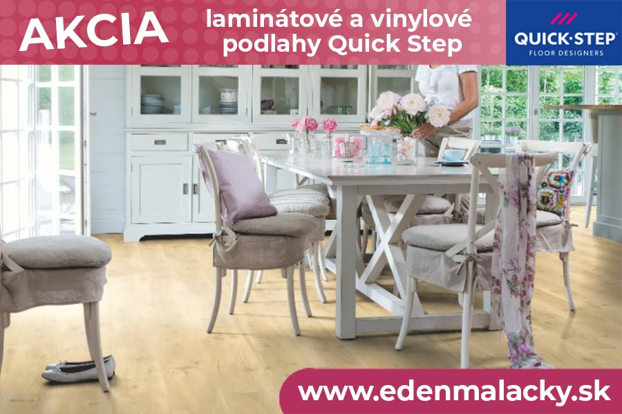 Akcia na laminátové a vinylové podlahy Quick Step